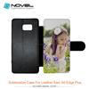 PU Leather Sublimation Mobile Phone Case for Samsung Galaxy S6 Edge plus