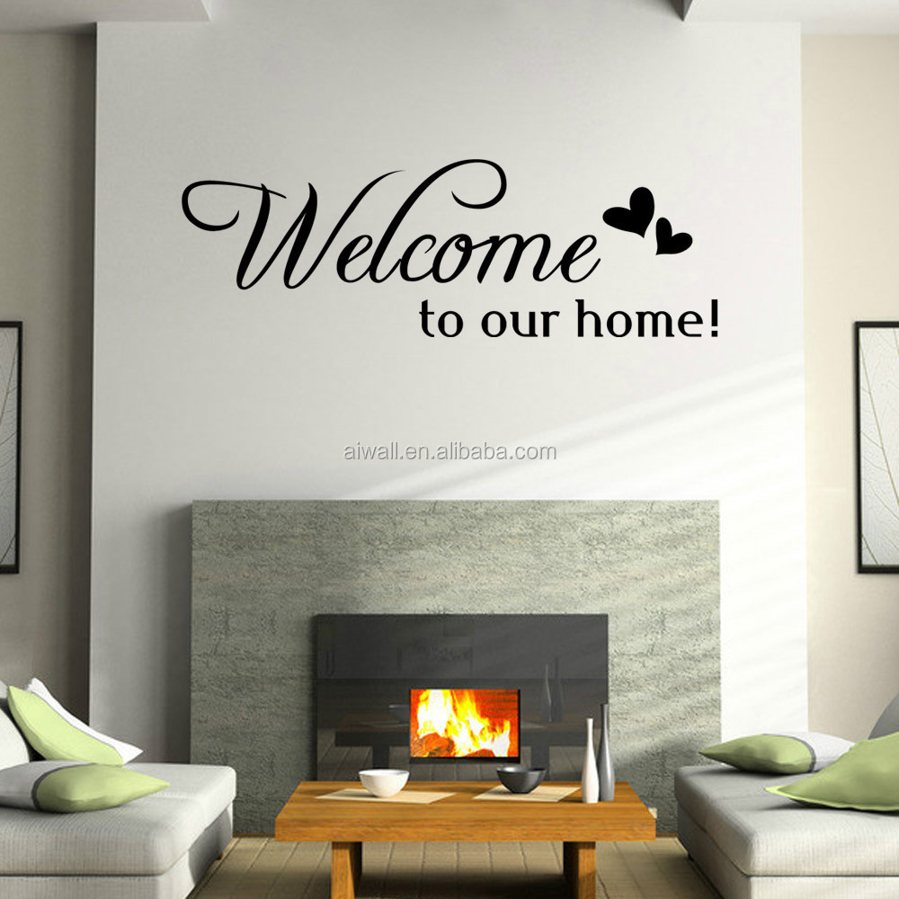 9307 Art Wall Stickers Wellcom To Our Home Diy Home Decorations Wall ...