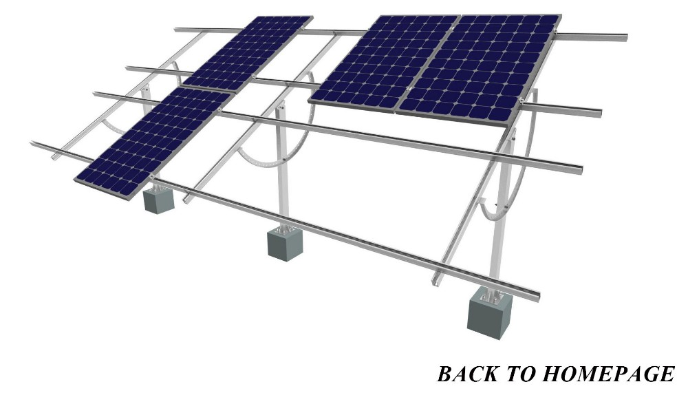 My test Adjustable System Solar Panel Mounting Brackets