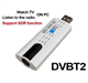 Digital DVB T2 TV Stick Tuner USB2.0 HDTV Receiver with Antenna Remote Control for DVB-T2 / DVB-C / FM / DAB