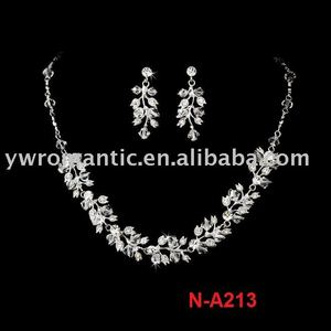 rhinestone hyderabadi jewelry set