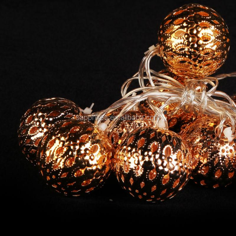 Led Christmas Decoration Battery Lights Led Metal Ball Lights ...