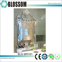factory wholesale antique engraved decorative mirror bedside tables