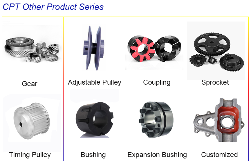 SPC cast iron or steel pulley supplier