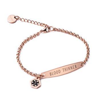 Fashion Whole Free Engraving Medical Alert Id Chain Bracelets