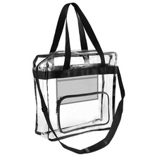 Stadium Zippered Security High-End Clear PVC Tote Bag