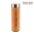 ED5015 270ML Custom Laser Engraving Logo Stainless Steel Vacuum Insulated Bamboo Water Bottle With Silicone Cover Lid