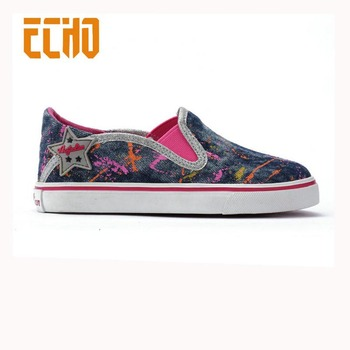 4aab4c5b9156 Latest Girls Printed Jeans Canvas Shoes - Buy Latest Girls Canvas ...
