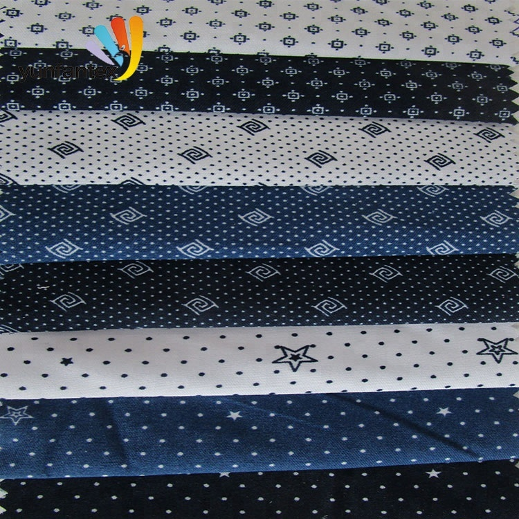 2019 Shaoxing fabric textile printing 100 cotton shirt various pattern fabric