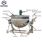 Stainless steel large chocolate sugar cooking pots with mixer