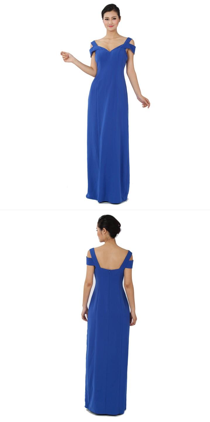 eef89b298 Vestido De Noche Azul Real Decoración Para Las Mujeres Gordas Vestidos  Coreano Nueva Moda Prom Vestidos - Buy Real Vestido De Noche,Vestidos De  Dama ...