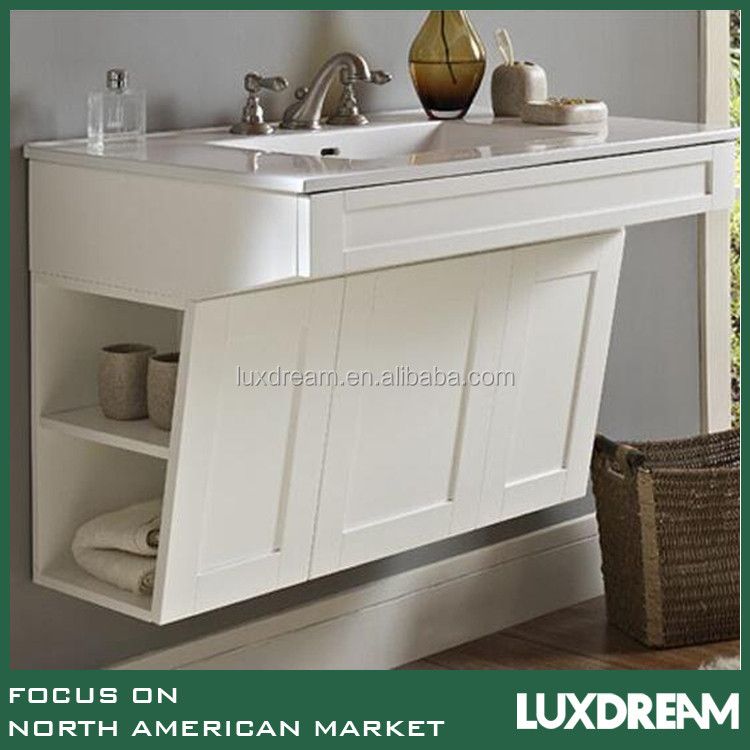 36'' ADA hotel bathroom vanity with cupc ceramic sink and mirror