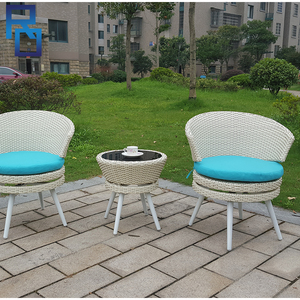Weatherproof Outdoor Rattan Patio 2 Seater Garden Furniture Dining Set In White Chair And Table