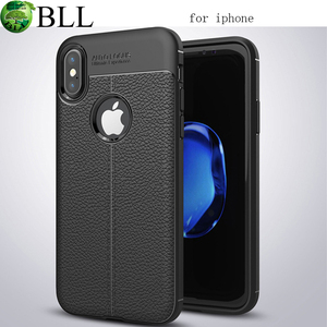 Lichee Pattern Soft TPU Case Silicone Cover for IPhone X, Mobile Phone Case protectores de celular fundas para for IPhone X