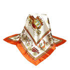 Gift Designer Silk Feeling Hair Wrapping Scarf 35x35 Inches Women Large Satin Square Scarf