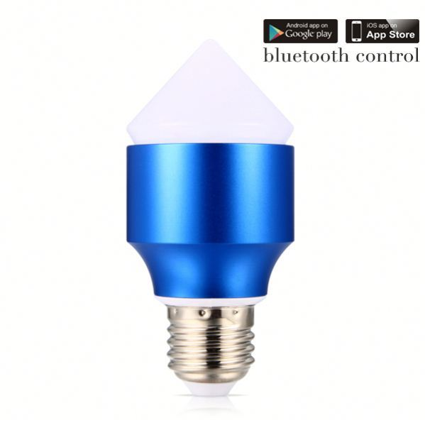 all in one bluetooth led sign bulb smart phone control bluetooth led rgb controller led bulb with color changing 6w RGB led bulb