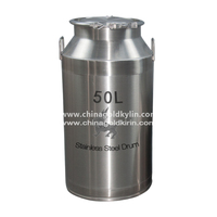 CGK Hot Sell High Quality SUS304 50L stainless steel milk can with lid