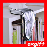 OXGIFT L-shaped right angle bend bell, fashion melting clock