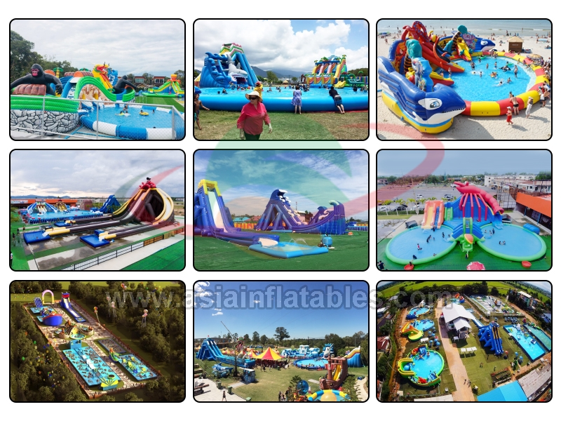 Inflatable Amusement Park Water Slides with Pool/Inflatable Water Park Game for Adult