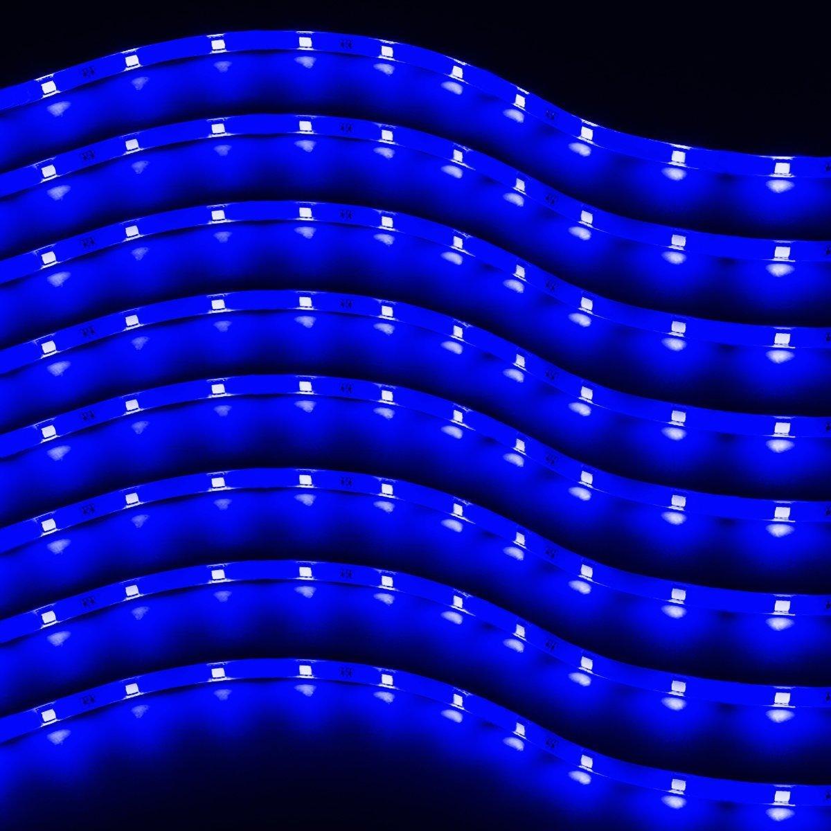 Zento Deals 30cm Blue LED Car Flexible Waterproof Light Strips (8)