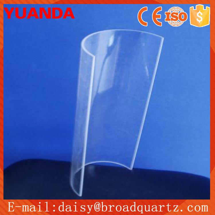 China Supplier Half Round Heat Resistant Borosilicate Quartz Tube ...