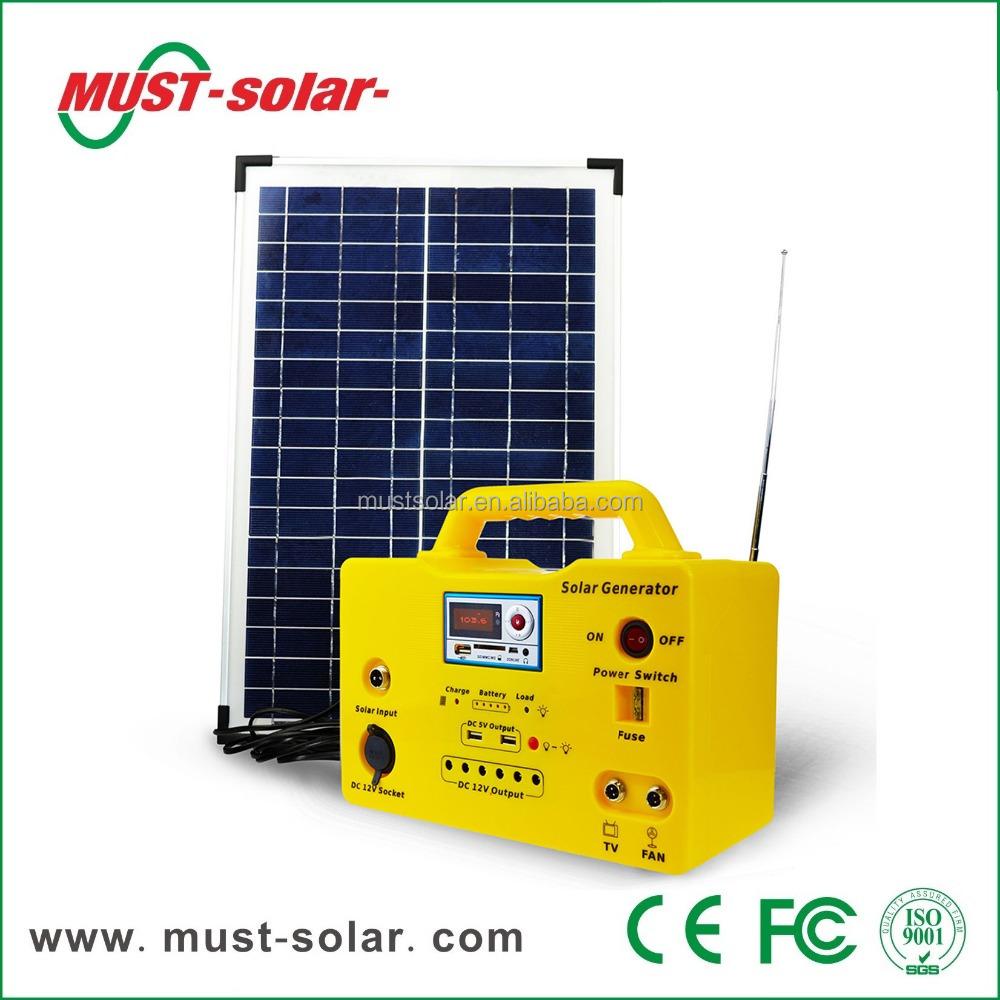 solaire clairage kits solaires lanterne 20 w portable mini syst me d 39 nergie solaire de la. Black Bedroom Furniture Sets. Home Design Ideas