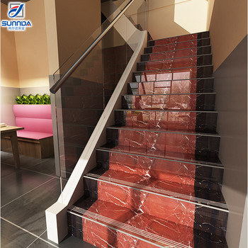 Non Slip Contemporary Indoor Commercial Decorative Porcelain Stair Treads  And Risers Staircase Step Ceramic Floor Tiles   Buy Risers Tiles,Risers ...