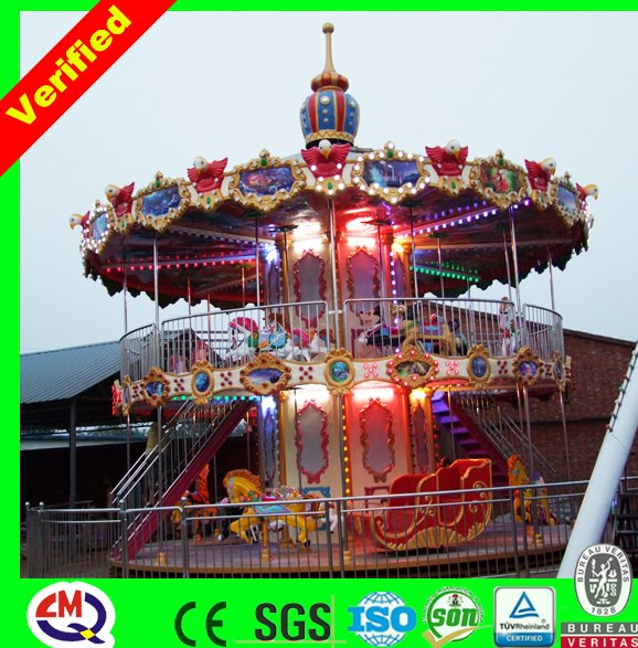 Professional design used amusement rides carousel snow globe on sale