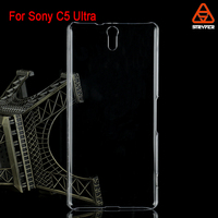 For Sony C5 Ultra wholesale factory price black transparent crystal clear ECO PC mobile phone case cover