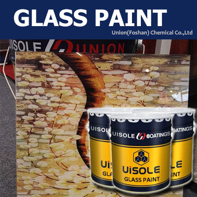 coating for art glass protection and use background glass and ceramics paint for UV printing machine