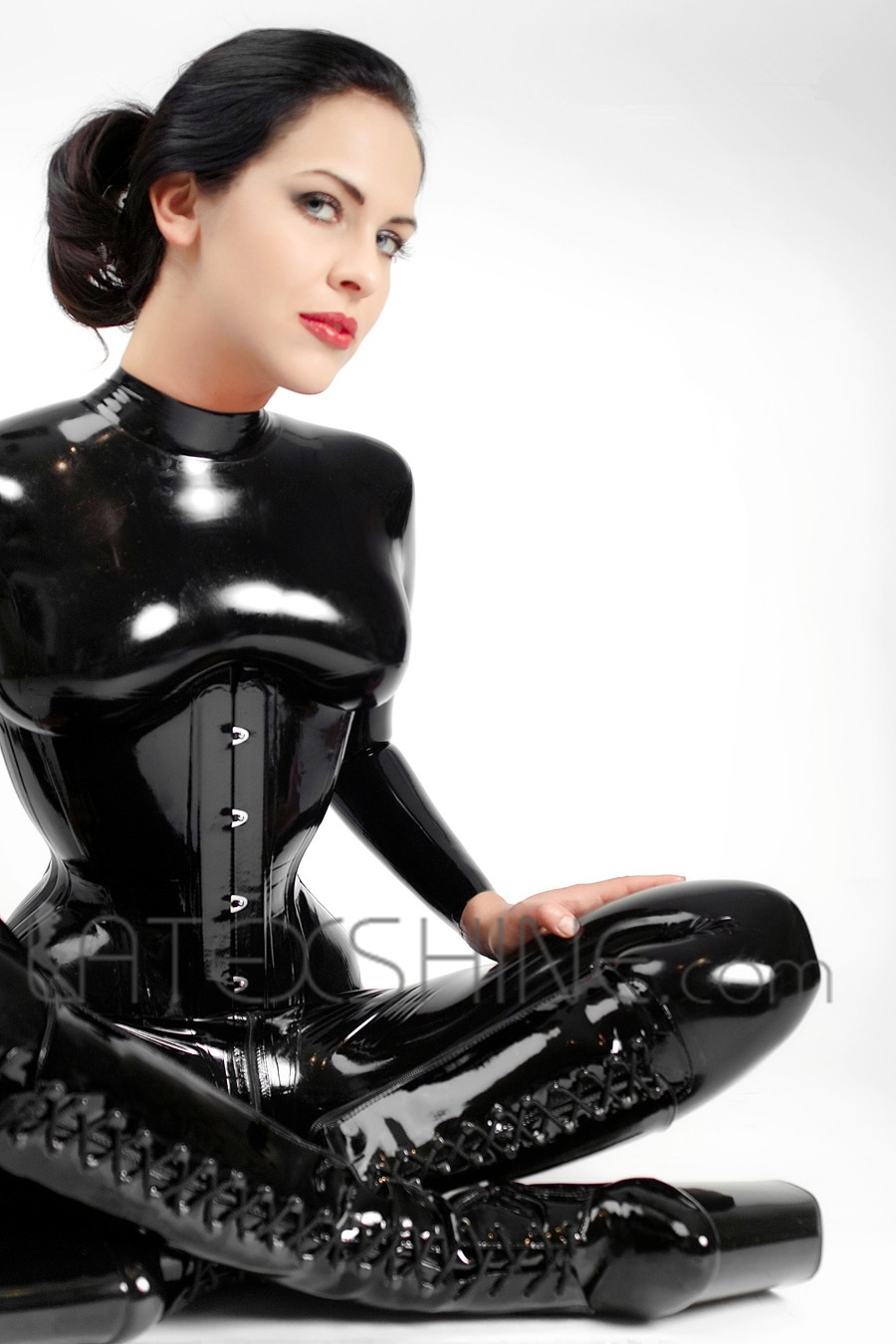 A latex corset and nothing else 2