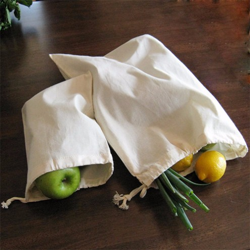 custom  Ecology eco reusable drawstring Cotton Muslin  pouch Bag
