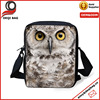 Animal Owl Pattern Girl Handbag Messenger Sling Cross Body Sport Bag for Women