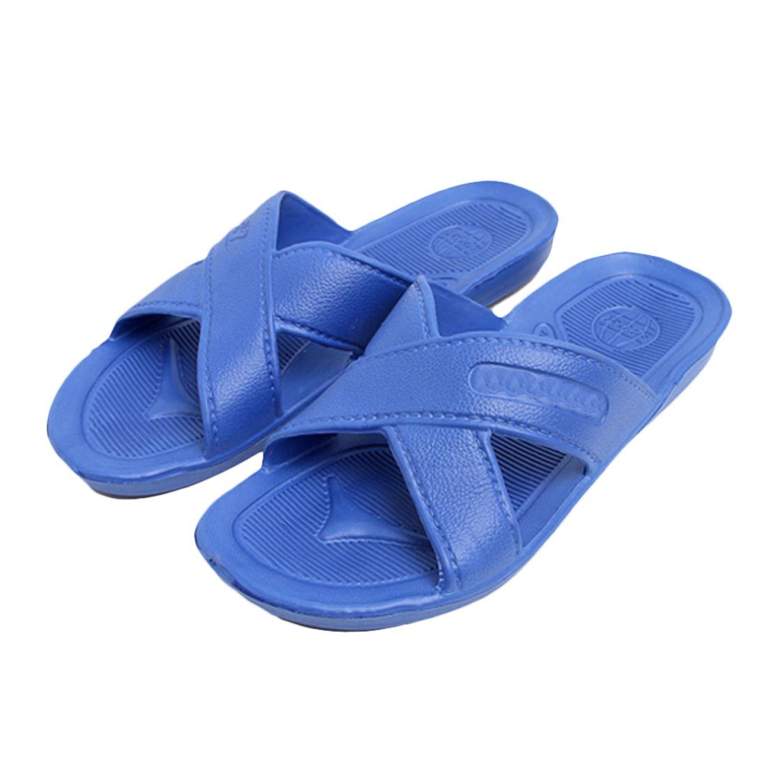 af4de8ca1b24f2 Voberry® Rubber Slide Sandal Slipper Comfortable Shower Beach Shoe Slip on  Flip Flop (Blue