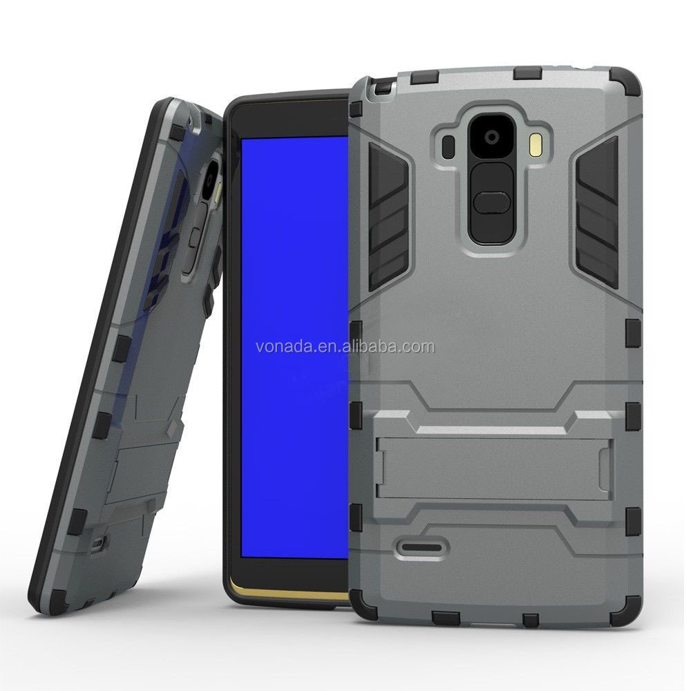 2 in 1 Shockproof Armor TPU + PC Cover Stand Phone Case For LG G4 Stylus / G4 Note