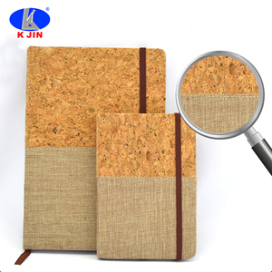 2018 brand new style water pine linen fabric notebook can printing logo recycle notebook for officer