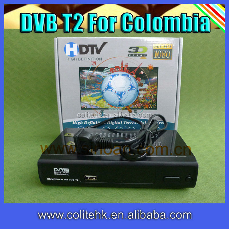 terrestrial receiver dvb-t2 for colombia