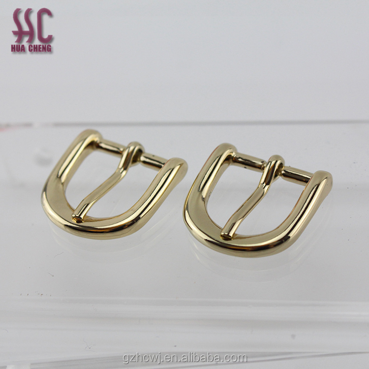 2018 new shiny gold metal belt buckle clasp small shape pin buckle