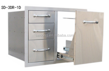 Stainless Steel Outdoor Storage Cabinet Bbq Components Outdoor ...
