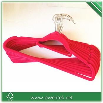Kleiderbügel Beflockt abs kunststoff samt beflockt kleiderbügel für kleidung coat hose