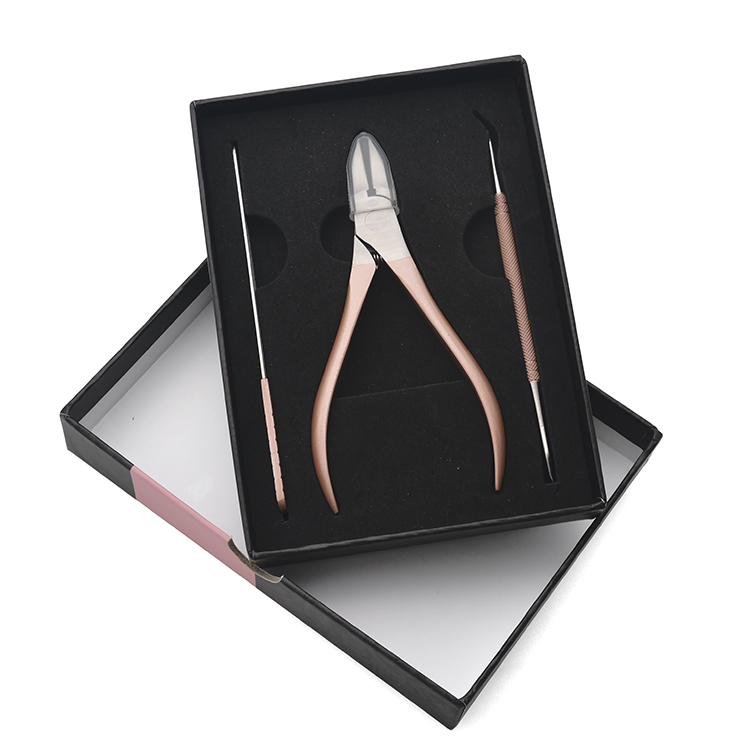 Rose Gold Manicure Kit Nail Tool Cuticle Nail Nipper Set Nail Cutter with Gift Box