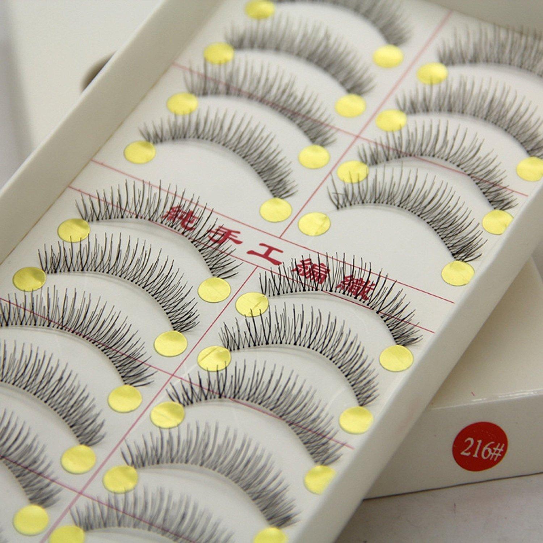 84190ec4610 Get Quotations · HiiBaby10 Pairs Taiwan Makeup Mink Eyelashes False Eye  Lashes Natural Regular Long Hand Made Eyelash Extension