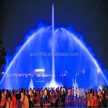 Modern Water Fountains Outdoor Led Firework Lights Music Dancing ...