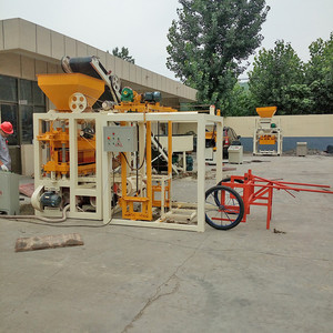 Widely used QT 4-24 concrete louver brick making machine for sale blocks