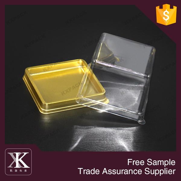 de qualité alimentaire en plastique carré gâteau emballage boîte