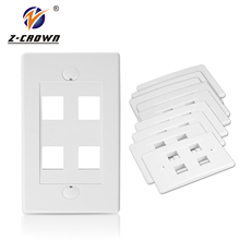 Plastic rj45 network faceplate cat5e RJ45 mini faceplate