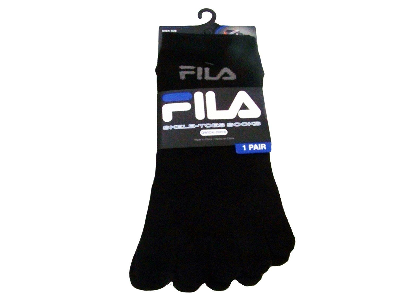 FILA Mens Skele-toes Toe Socks No-show BLACK