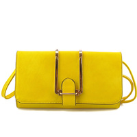Fashion Lady 2016 new product party Yellow PU online shopping for bags for women