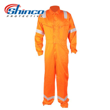 100% Cotton Royal Blue Protective Overalls With Reflective Tapes for Industrial Workers