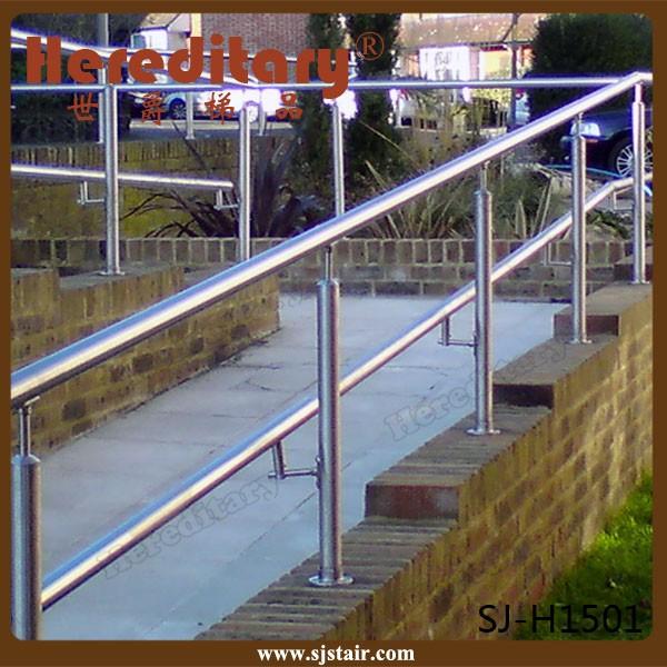 Stainless Steel Railings Glass Handrails Installation: Outdoor Stainless Steel Ramp Handrail/railing/blustrade